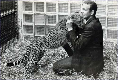 Rob en een cheetah